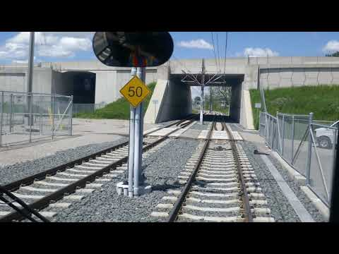 FIRST DAY OF OPERATION: iON Light Rail from Fairview to Kitchener Central Station --- driver's view