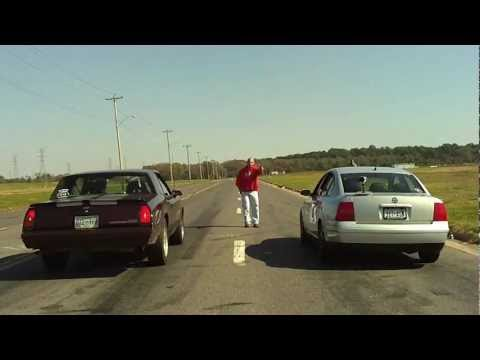 Memphis street racing. Lancer Evolution takes on an opponent in an illegal street race.