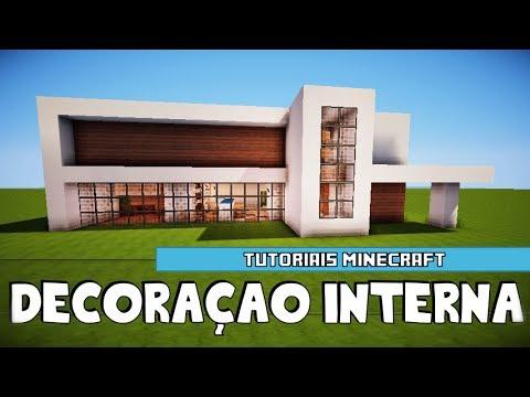 Minecraft decora o interna da mans o moderna 2 youtube for Casa moderna minecraft 0 11 1