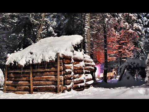 Winter Bushcraft Shelter - Staying Overnight