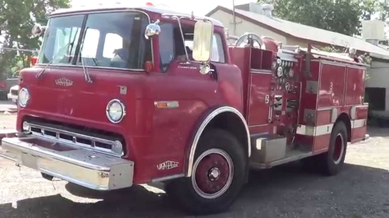 lot 927 retired 1980 ford 8000 engine fire truck youtube rh youtube com Chevy COE Trucks 1947 Ford Coe Truck
