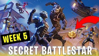 Semaine 5 SECRET BATTLESTAR emplacement ( Fortnite Fortnite