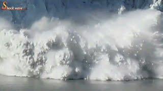 Huge glacier calving 2017 create big wave, Alaska | glacier national park | glacier | shock wave 2/2