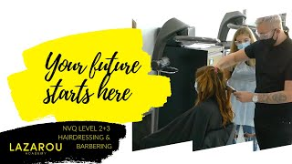 Lazarou Academy Duke Street Cardiff | Join our fully-funded hairdressing & barbering courses