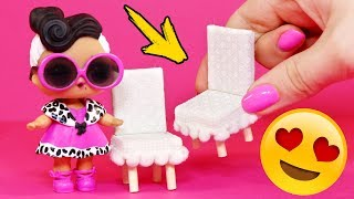 Chair for dolls  DIY ! LOL Dolls Surprise!  Doll house! AnnaOriona