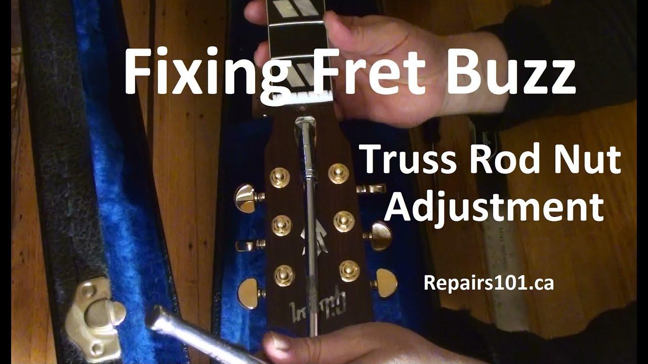 guitar fixing fret buzz truss rod nut adjustment youtube. Black Bedroom Furniture Sets. Home Design Ideas