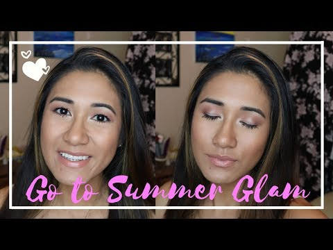 GO TO SUMMER GLAM MAKE UP | Fresh Simple and Easy | Simple put together look thumbnail