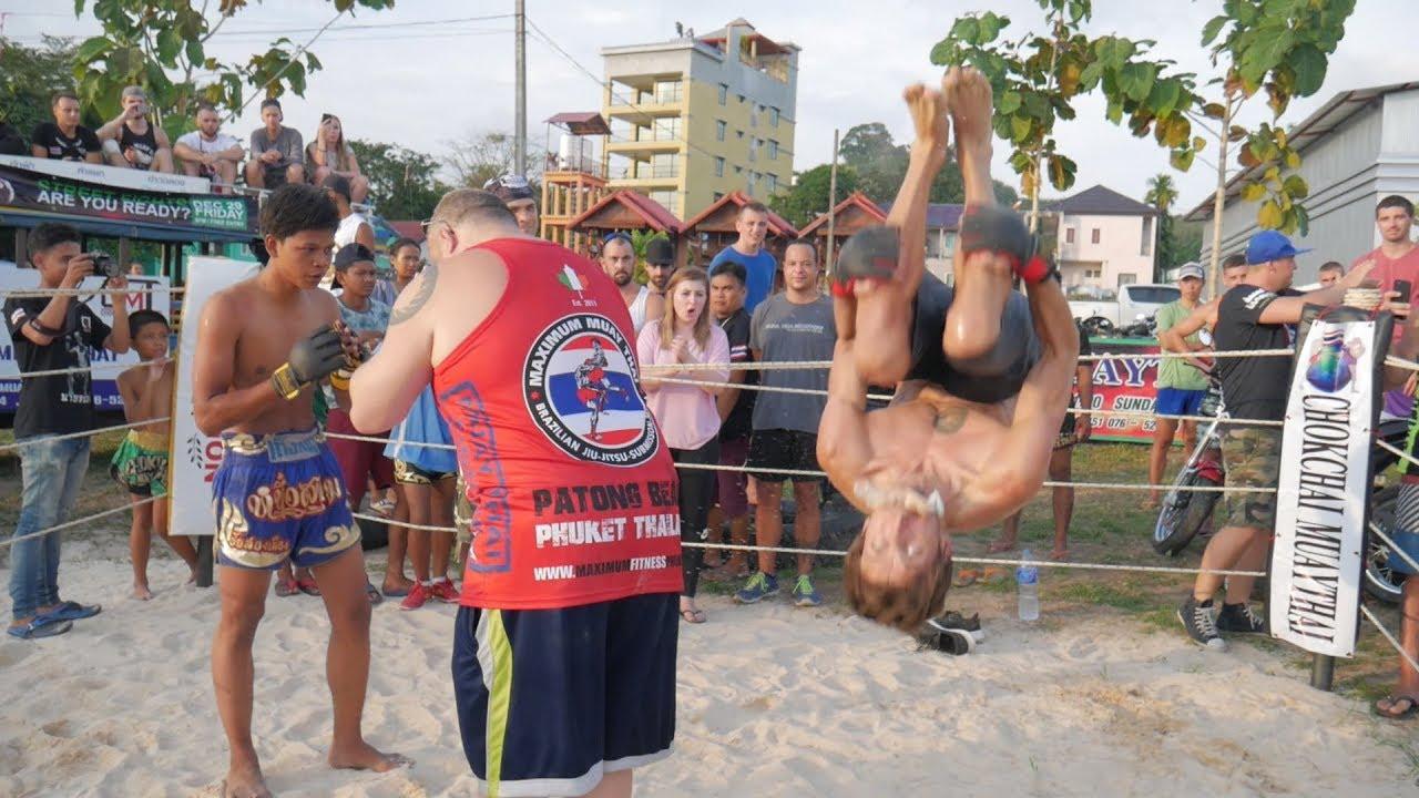 Wrestler vs Muay Thai fighter, Phuket MMA