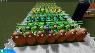 Plant Vs Zombies - House Defense - ROBLOX - Strategy