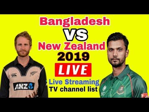 Bangladesh Vs New Zealand 2019 Live Streaming Tv Channel List | Ban Vs Nz Live