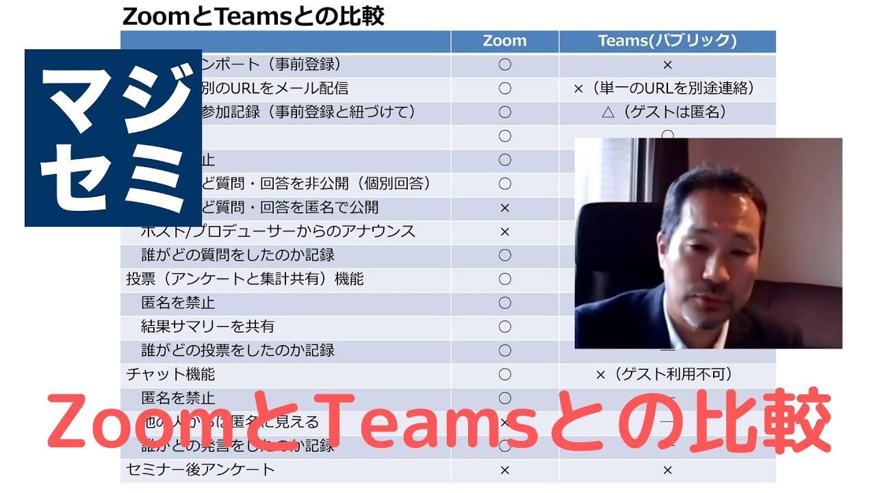 Zoom teams 比較