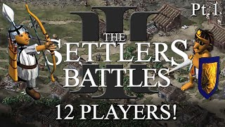 Settlers 3 Battles - 12 Players! - part 1