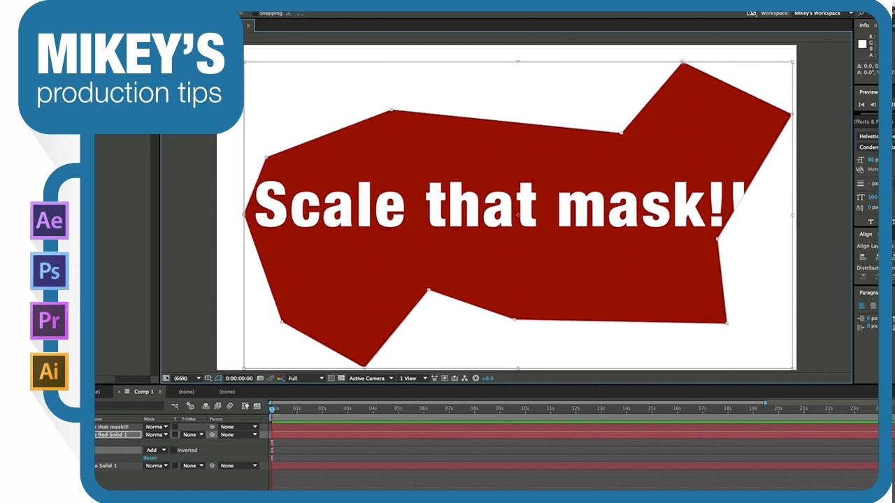 Scaling a mask in After Effects