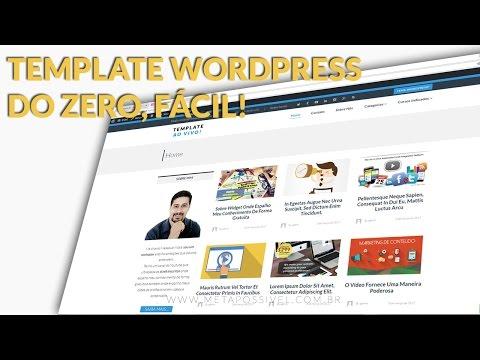 Template Wordpress Profissional Criado Do Zero Em 2 Horas E 46 Minutos | WP Tema Expert 😱😱😱