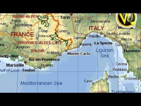 Monte Carlo Monaco Map