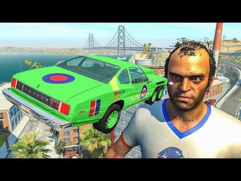 Cars vs TREVOR from GTA 5 - BeamNG Drive Jumps & Car Crashes