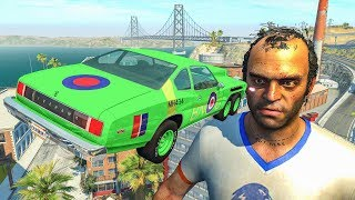 Cars vs TREVOR from GTA 5 - BeamNG Drive Jumps & Car Crashes
