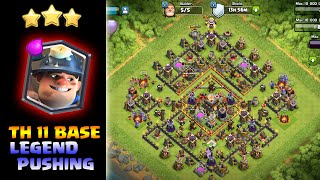Clash Of Clans| Miners Pushing Stratigy for Legend league|Insane 3 Star Attacks