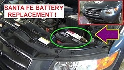 Battery Replacement on Hyundai Santa FE 2006 2007 2008 2009 2010 2011 2012  Dead Battery