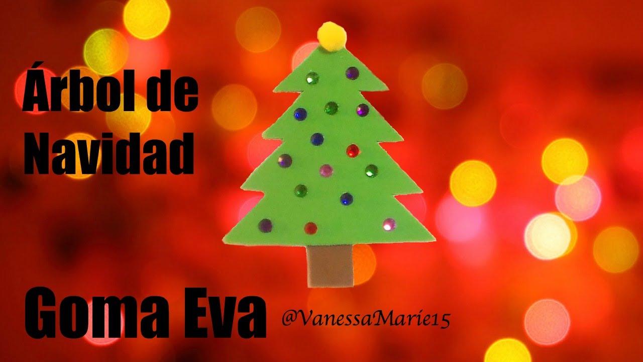 Tutorial Adorno Navideno Arbol De Navidad Goma Eva Foamy