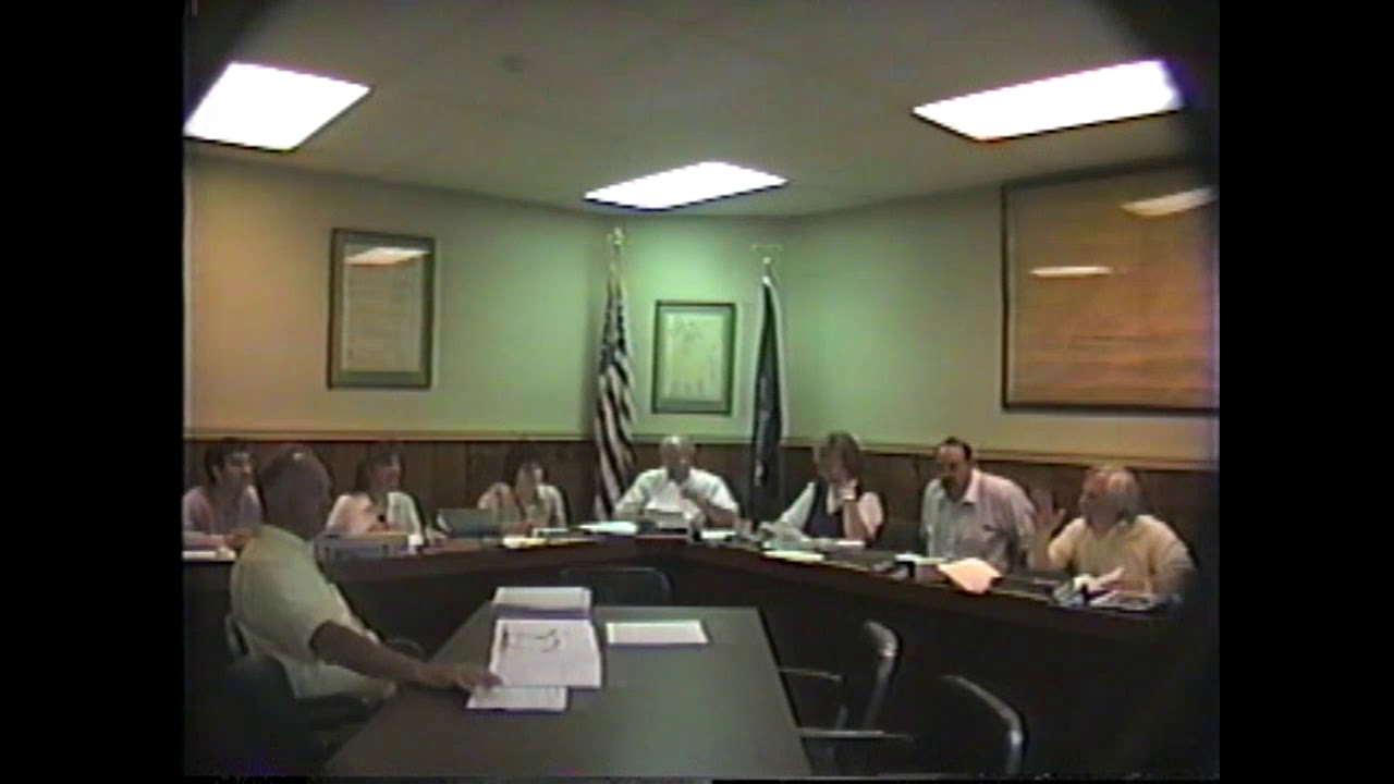 Champlain Village Board Meeting  6-24-96