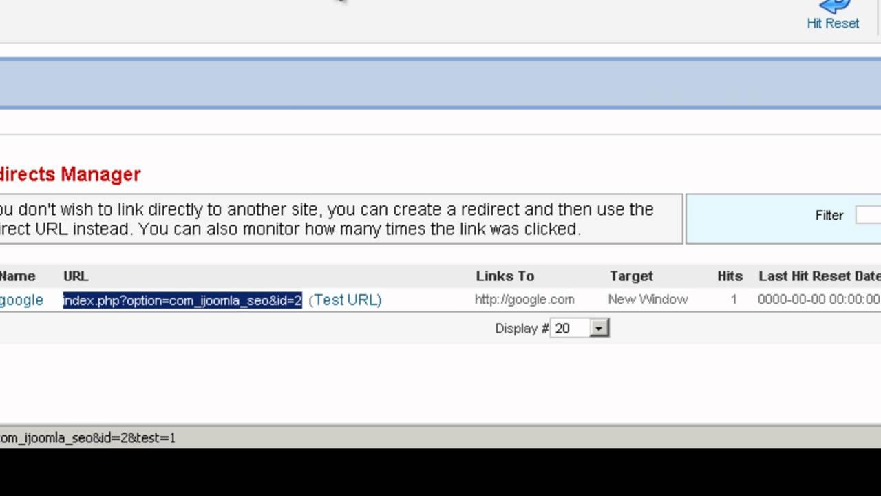 Joomla No Follow SEO Tool - Redirect Joomla URL Tool
