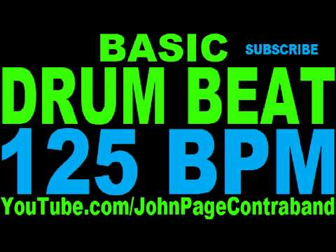 Basic Straight Drum Beat Loop 125 bpm HALF HOUR LONG 4/4 Metronome