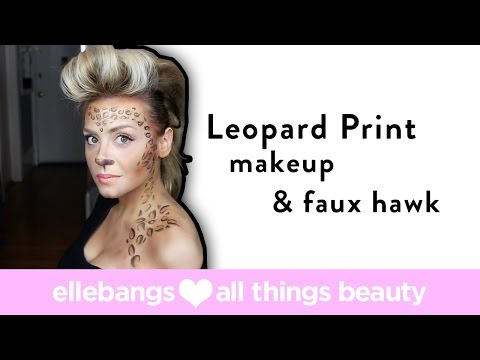 9336be206277 Halloween Leopard Print, pink lip & Party Faux Hawk, Runway Look makeup  tutorial - YouTube