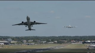 Airbus A350 Takes Off Quick Before A380 Lands