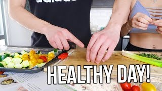 HEALTHY day in my life! What I eat to lose weight!