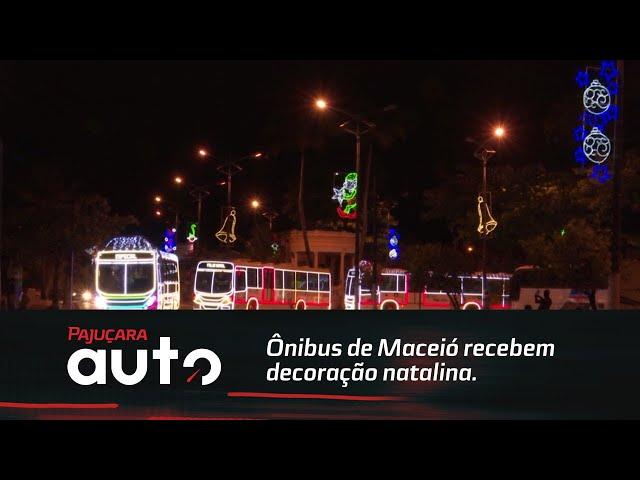 Ônibus recebem decoração natalina e viram sensação em Maceió