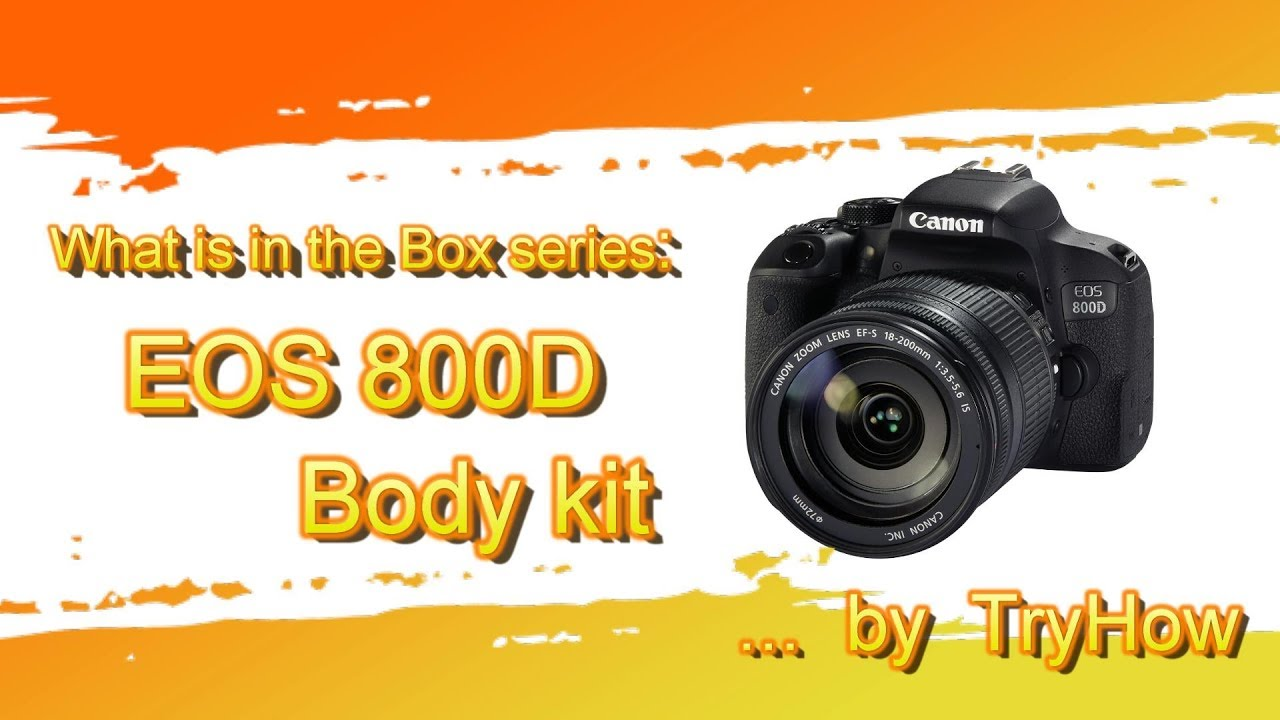 Canon EOS EOS 800D / T7i body kit - Box Content