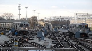 Chicago Transit Authority 'L' Trains in Action - December 2016