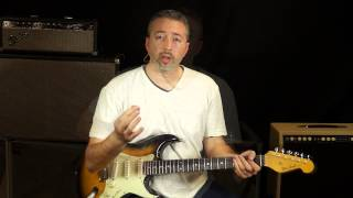 http://txba.ly/v6Kh - In this lesson I'll show you 5 different things that Stevie Ray Vaughan did over the IV and V chords in Tin Pan Alley. They all lie outside the ...