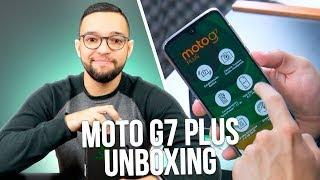 MOTO G7 PLUS   UNBOXING e COMENTÁRIOS