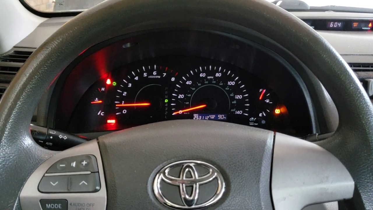 How to reset the idle on a toyota camry (after battery or terminal change)