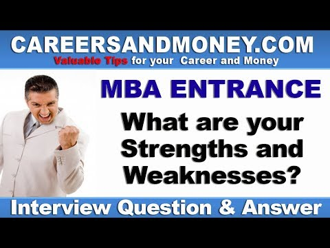 What are your Strengths and Weaknesses? MBA Entrance Interview Question & Answer