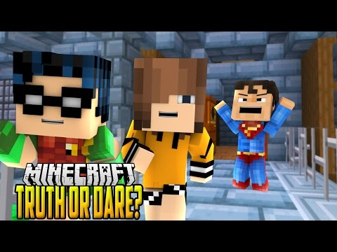 Minecraft Daycare - Truth or Dare KISSING and Ding Dong Ditch Prank!