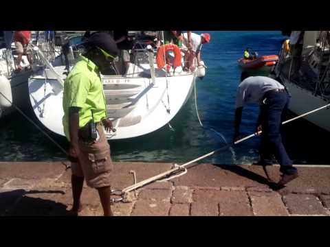 How not to park a yacht in Antigua part 2