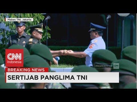 Serah Terima Tongkat Komando Panglima TNI dari Jenderal Gatot Nurmantyo ke Marsekal Hadi Tjahjanto