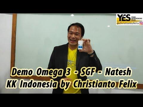 Demo Omega 3 - SGF - Natesh KK Indonesia By Christianto Felix Mentor Komunitas YES #SuccessBefore30