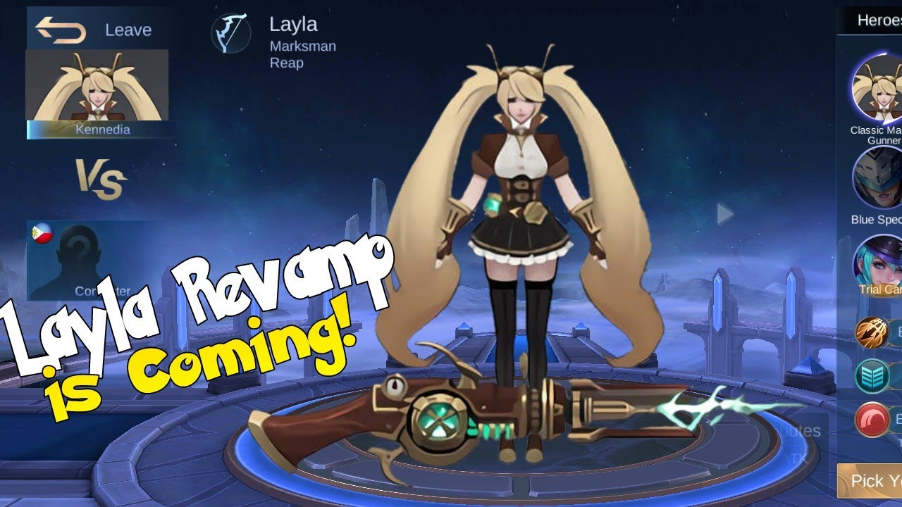 LAYLA REVAMPED MODEL MOBILE LEGENDS NEW REVAMPED HEROES - YouTube