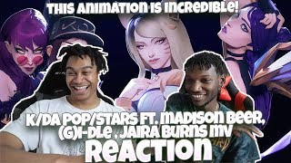 (G)I-DLE!!! | K/DA - POP/STARS (ft Madison Beer, Jaira Burns) | MV - League of Legends - REACTION