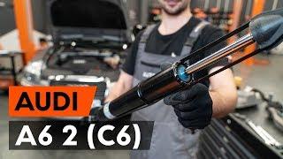 AUDI A6 Takaiskunvaimennin ja etuiskunvaimennin asentaa : videokäsikirjat