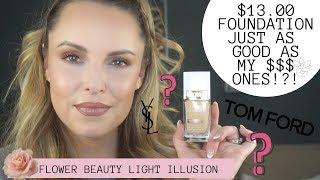 $13 DOLLAR FOUNDATION AS GOOD AS MY HOLY GRAIL'S? ????????|| Flower Beauty Light Illumination