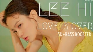 3d+bass boosted] lee hi (이하이) – love is over | pinkvelvet -