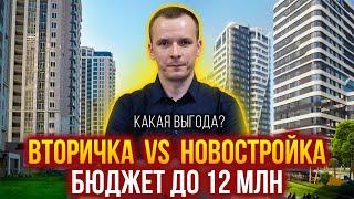 Новостройки VS Вторичка. Что купить в бюджете до 12 миллионов в разных районах Москвы?