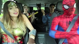 One of Rclbeauty101's most viewed videos: Super Hero Carpool Ride