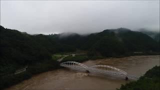 【平成30年7月豪雨】7月7日朝の江の川(島根県江津市)