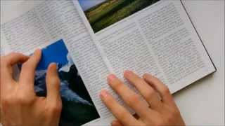 ASMR 20 minutes of turning pages/flipping through a magazine and books (no talking)